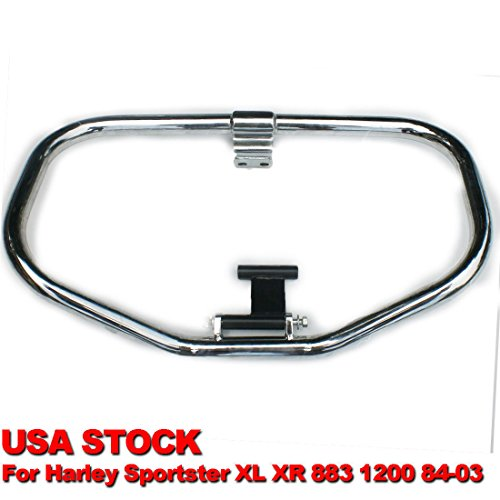BBUT CHROME Highway Mustache Rail Engine Guard Crash Bar For Harley Touring Chrome Engine Highway Guard Crash Bar For Harley Sportster XL XR 883 1200 1984-2003
