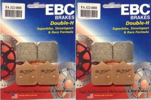 2003-2006 Ducati 999 EBC Sintered Double H Front Brake Pads 2 Sets FA3224HH
