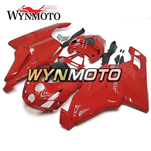 WYNMOTO Motorcycle Fairing Kit For Ducati 999 749 03 04 2003 2004 Gloss Red ABS Injection Plastic Sportbike Bodywork