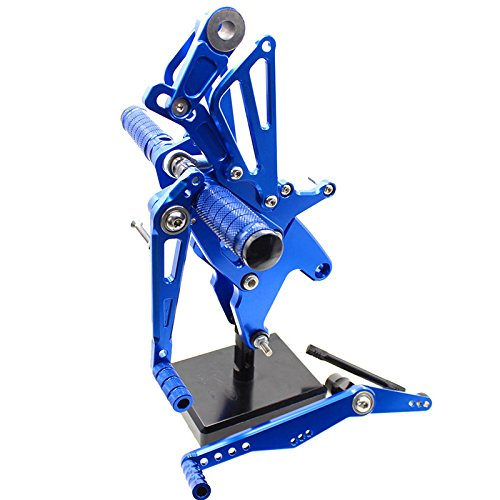FXCNC Racing 15-18 R1 Billet Motorcycle Rearset Foot Pegs Rear Set Footrests Fully Adjustable Foot Boards Fit For Yamaha YZF R1 2015 2016 2017 2018