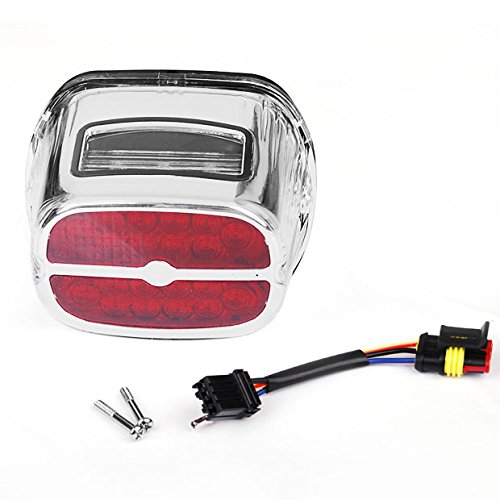 Hot Clear Chrome Integrated LED Taillight wLicense Plated Lamp For Harley Dyna Road King Touring