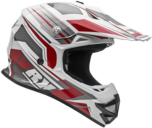 Vega Helmets VRX Advanced Dirt Bike Helmet – Off-Road Full Face Helmet for Motocross ATV MX Enduro Quad Sport 5 Year Warranty Red Venom Graphic Medium