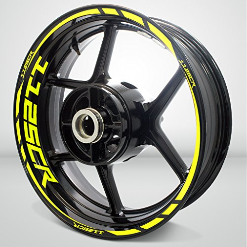Matte Yellow Motorcycle Rim Wheel Decal Accessory Sticker for Buell 1125cr