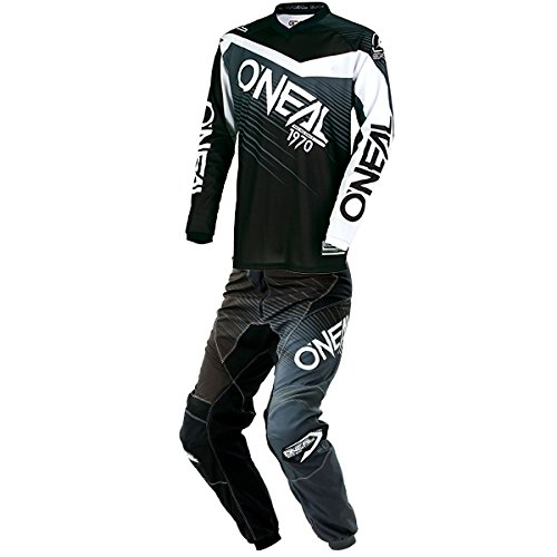 ONeal - Element Racewear Black Gray Jersey Pant Combo - Size SMALL 28W