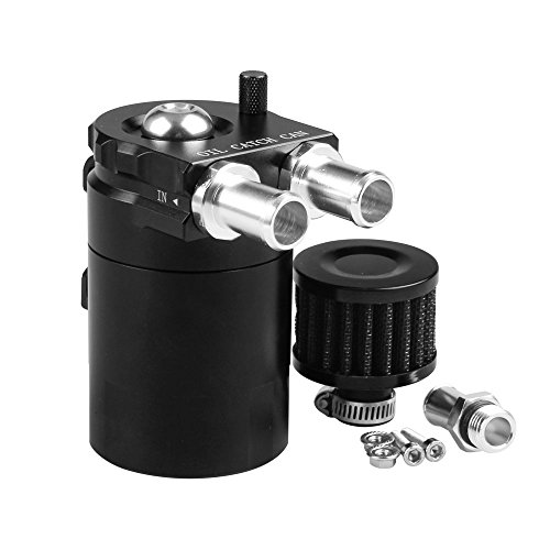Ruien Polish Baffled Universal Aluminum Oil Catch Can Reservoir Tank With Breather Filter Adapter For BMW