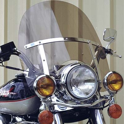 Harley Davidson Road King light tint windshield OEM height 19 made of superior quality 7130 makrolan polycarbonate