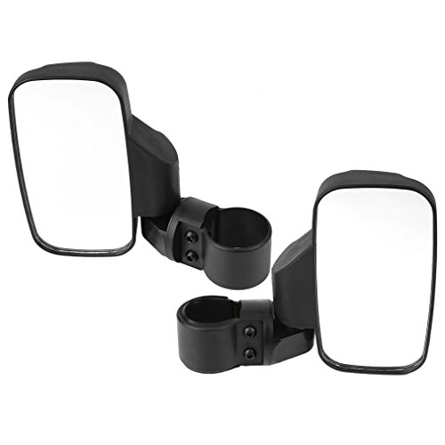 SPAuto UTV Side Mirror Set 175 2inch Roll Bar Cage Universal UTV Side View Mirrors High Impact Shatter-Proof Tempered Glass