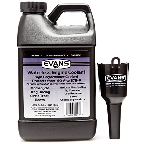EVANS Coolant EC10064 Waterless Engine Coolant 64 fl oz with Funnel