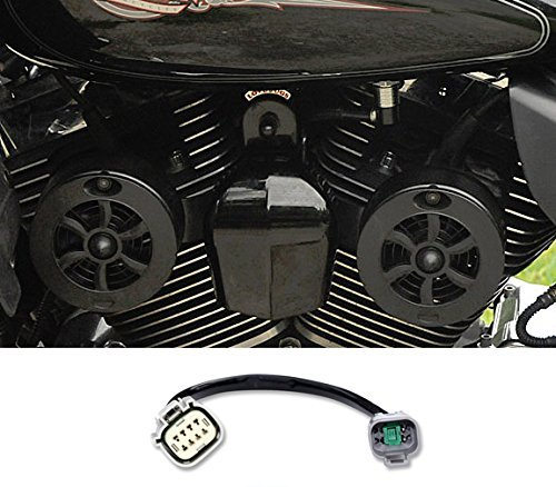 CMBKG-1 Love Jugs Cool Master Gloss Black with ADT V-Twin Engine Cooling System for 2017-Newer Harley M8 Touring Motorcycles