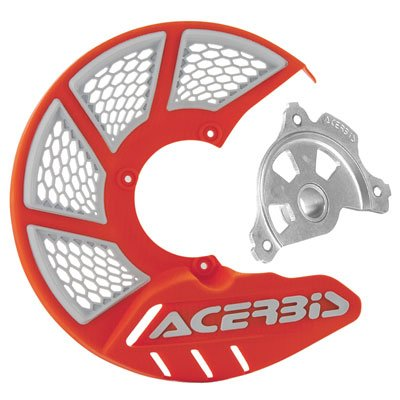 Acerbis X-Brake Vented Front Disc Cover with Mounting Kit 16 KTM OrangeWhite for KTM 250 XC-F 2015-2018
