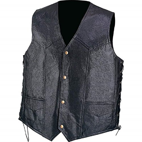 Diamond Plate™ Hand-Sewn Pebble Grain Genuine Leather Vest