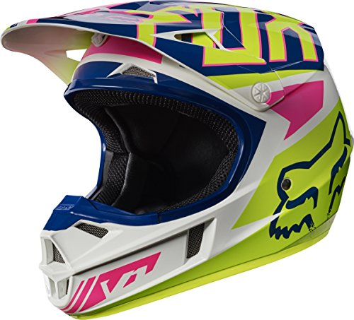 2017 Fox Racing Youth V1 Falcon Helmet-NavyWhite-YM