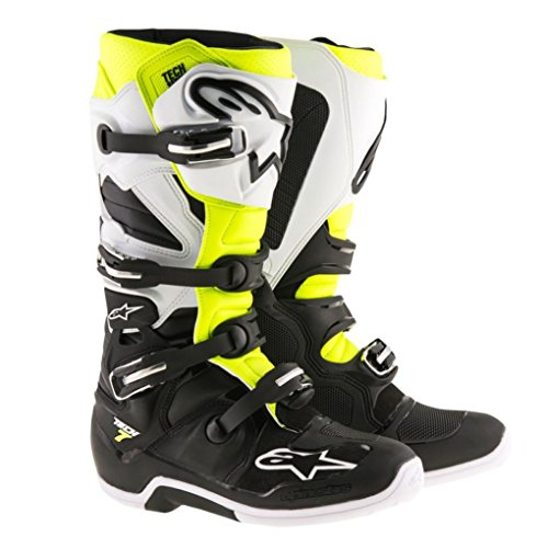 Alpinestars Tech 7 Enduro Motocross Boots - BlackWhiteYellow - 12