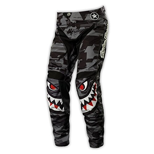 Troy Lee Designs GP P-51 Youth Boys MotocrossOff-RoadDirt Bike Motorcycle Pants - Gray  Size 28