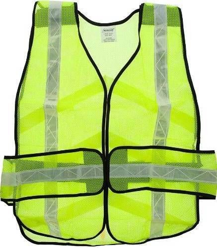 Yellow Safety Vest Reflective Motorcycle Mesh Bike Training Military Road Worker