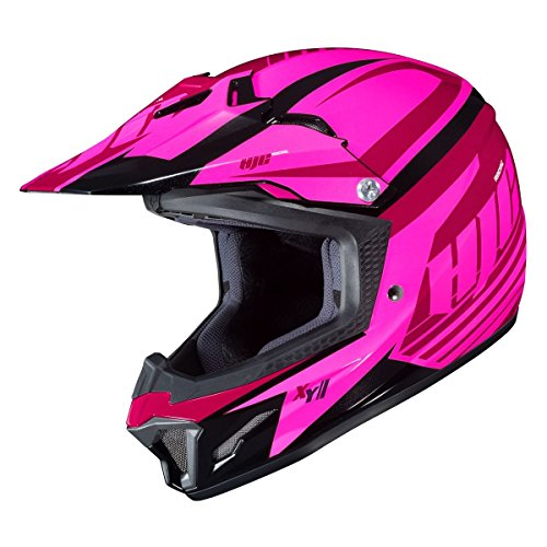 HJC CL-XY II Bator Pink Girls Youth Motocross Helmet - Youth Large