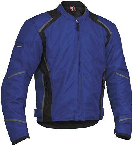 Firstgear Mesh-Tex Mens Motorcycle Riding Jacket Blue Large Tall