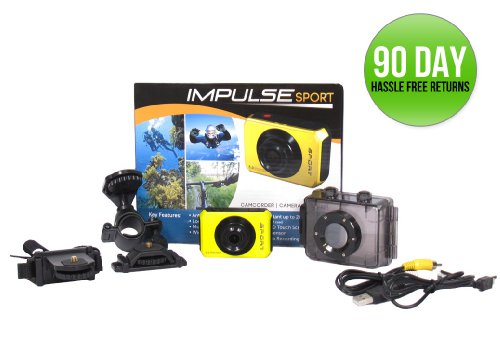 Impulse Sport Hd High Definition 1080p Action Sports Camera Including Waterproof / Shockproof Case And Activity