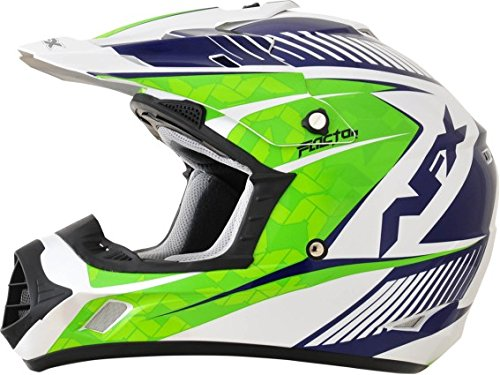 AFX FX-17Y Factor Complex Youth Motocross Helmets - Green - Youth Large