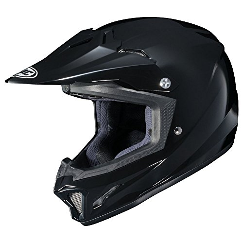 HJC CL-XY II Solid Youth Motocross Helmets - Black - Youth Medium