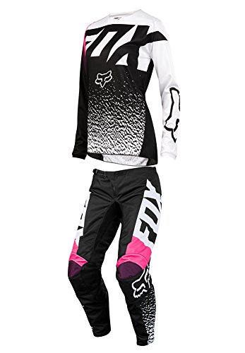 Fox Racing 2018 Womens 180 Combo Jersey Pants BlackPink MX ATV Offroad Dirtbike Motocross Riding Gear BlackPink