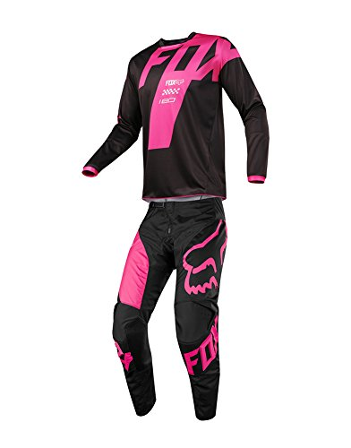 Fox Racing 2018 180 Mastar JerseyPants Adult Mens Combo Offroad MX Gear Motocross Riding Gear Black