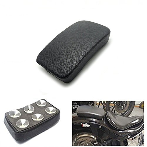 HANSWD Rectangular Pillion Passenger Pad Seat 6 Suction Cup For Harley Custom Chopper