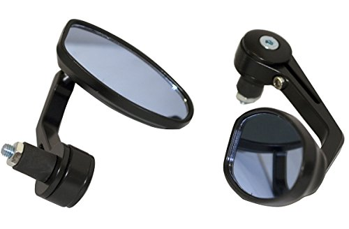 BLACK MOTORCYCLE 78 HANDLE BAR END MIRRORS For 1972 Honda CB350 Super Sport