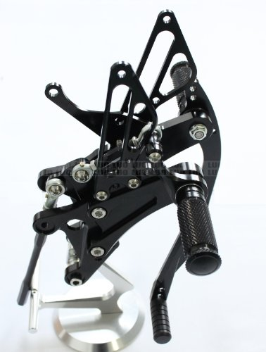 Motorcycle Racing Black Cnc Billet Adjuster Footrest Pedal Pegs Rear Sets Rearsets Fit For Yamaha Yzf R1 2004