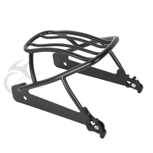 TCMT Black Solo Luggage Rack For Harley Dyna Street Bob Super Glide 06-17 Replace 52796-09