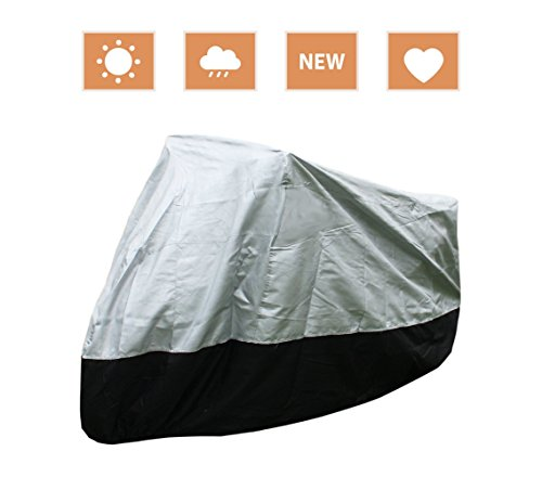 All Weather 2 Layer Deluxe Cotton Lined Waterproof Motorcycle Cover UV Protection 1003949 YM2HS