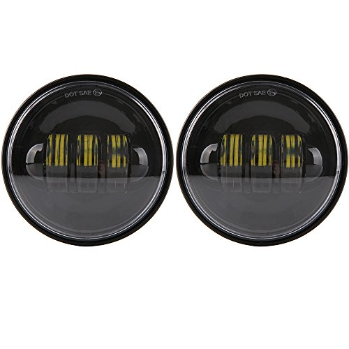 45 inch DOT Fog Passing LED Lights Daymaker Kit Auxiliar for Harley Davidson Ultra Classic Electra Street Glide Road King Heritage Softail Deluxe Fatboy Yamaha Royal VStar Touring Motorcycle Black