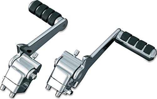 Kuryakyn 4571 Motorcycle Footpegs Adjustable Passenger Pegs for 2007-09 Harley-Davidson Motorcycles with Fixed Mounts Chrome 1 Pair