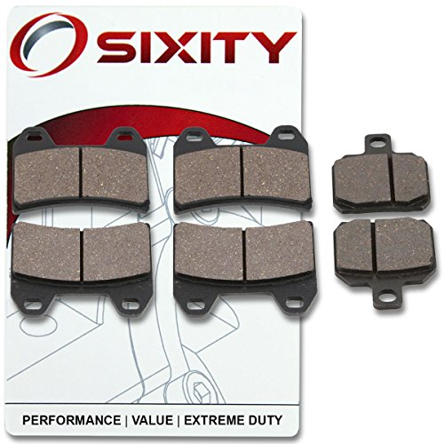Sixity Front  Rear Organic Brake Pads 2001-2002 Ducati 750 Sport Set Full Kit Supersport IE Complete