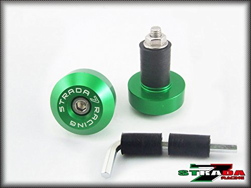 Strada 7 Racing CNC Handle Bar Ends Green For Ducati S2R