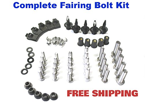 Complete Motorcycle Fairing Bolt Kit Ducati 848 EVO 2008 - 2013  1098 2007 - 2008  1198 2009 - 2011 Body Screws Fasteners and Hardware