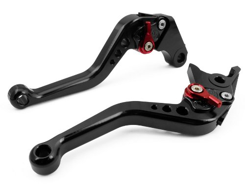 LUO CNC Short Brake Clutch Levers for Ducati 696 MONSTER 2009-2014-Black