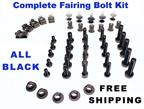 Black Complete Motorcycle Fairing Bolt Kit Ducati 848 EVO 2008 - 2013  1098 2007 - 2008 1198 2009 - 2011 Body Screws Fasteners and Hardware
