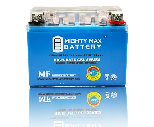 YTX4L-BS 12V 3Ah GEL Replacement for BikeMaster BTX4L-BS 781306 - Mighty Max Battery brand product