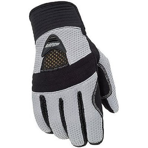 Tour Master Airflow Women's Textile On-road Motorcycle Gloves - Silver / Medium