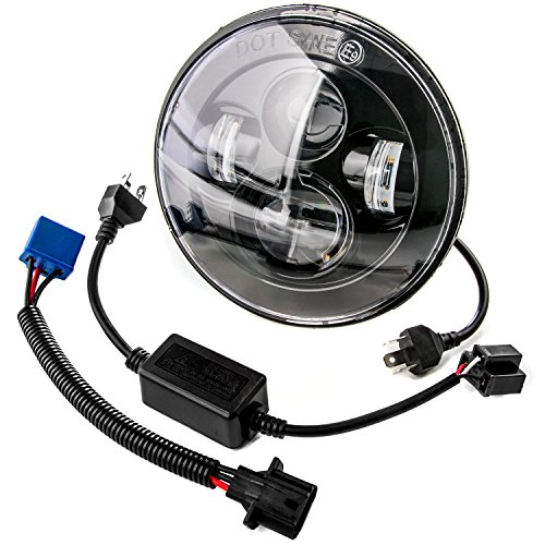 7 Motorcycle Projector Daymaker High Lo For Harley-Davidson Light LED Headlight for 2005-2008 Dodge Magnum Requires 2 Headlights