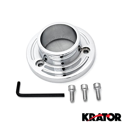 Krator Polaris Predator 500  Outlaw 500525 ATV Exhaust Tip Muffler Power Outlet Polished Chrome