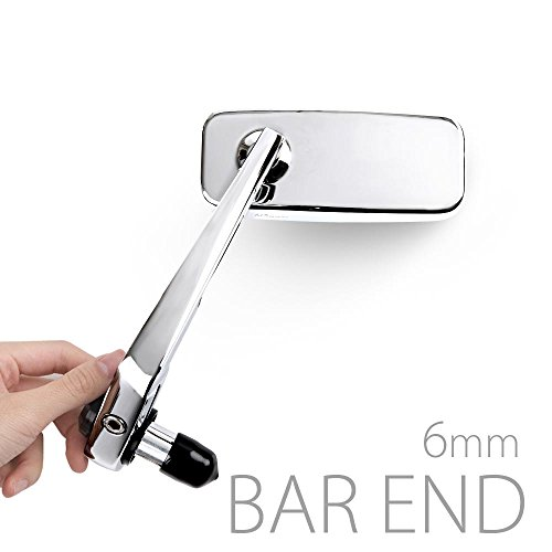 motorcycle bar end mirrors classic chrome universal fit w 6mm threaded or hollow bar