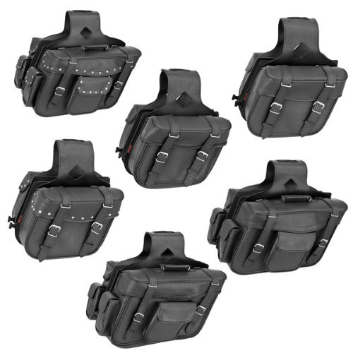 River Road Compact Slant Saddlebags - Classic