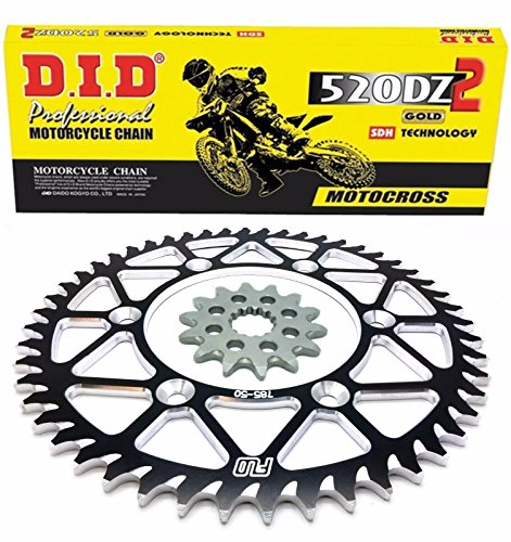 DID Gold Motocross Chain BLACK Sprocket Combo Kit 48 49 50 51 Tooth rear sprocket  13T front sprocket YAMAHA YZ450F 50T