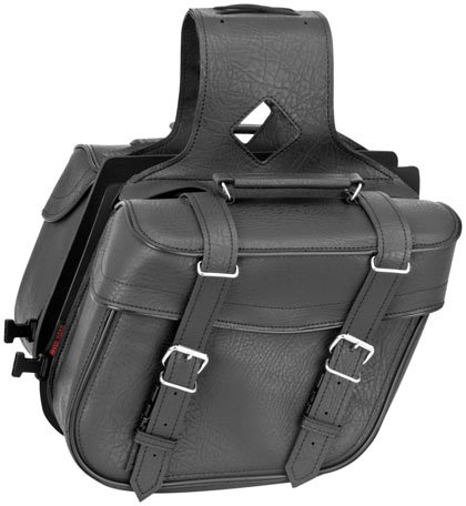 River Road Zip-off Slant Compact Saddlebags Classic Black