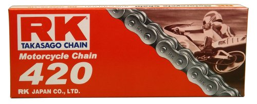 RK Racing Chain M420-106 420 Series 106-Links Standard Non O-Ring Chain with Connecting Link
