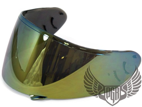 GOLD Shoei CW-1 Helmet Aftermarket Replacement Shield Visor X-12 RF-1100 Qwest XR-1100 X-SPIRIT2 Helmets