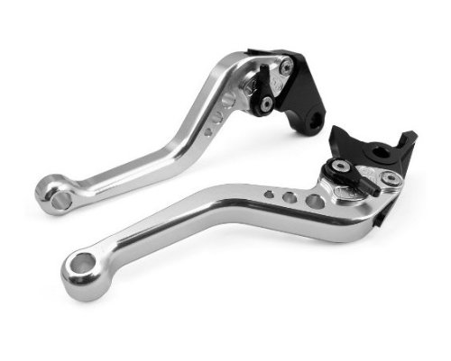 US-051 Short Motorcycle Brake and Clutch Levers for DUCATI 696 MONSTER 2009-2014-Silver