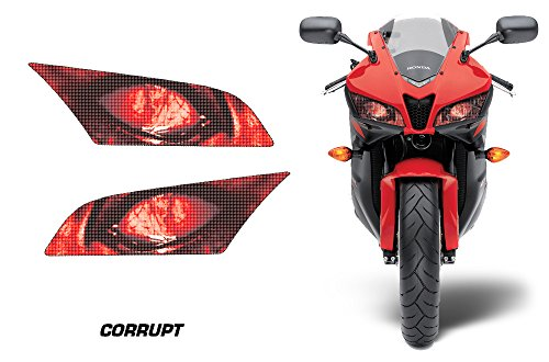 AMR Racing Sport Bike Headlight Eye Graphic Decal Cover for Honda CBR 600 RR 09-12 - Corrupt
